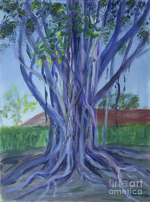 Painting - Banyon Tree At Boca Museum School by Donna Walsh