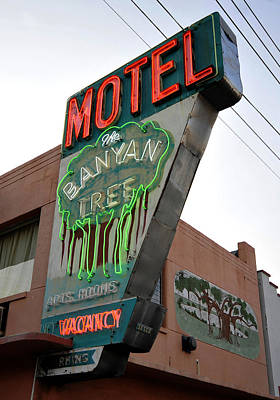 Photograph - Banyon Tree Motel Work One by David Lee Thompson
