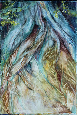 Painting - Banyon Tree Roots Watercolor by Linda Olsen