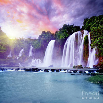 Banyue Waterfall Art Print by MotHaiBaPhoto Prints