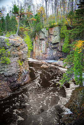 Photograph - Baptism River In Tettegouche State Park Mn by Alex Blondeau