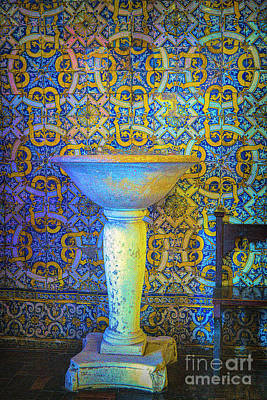 Photograph - Baptismal Font by Rick Bragan