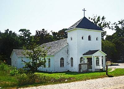 Digital Art - Baptist Church by Michael Thomas
