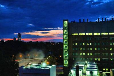 Photograph - Baptist Hospital At Dawn by Kathryn Meyer