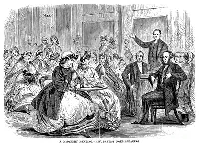 Drawing - Baptist Meeting, C1868. by Granger