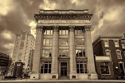 Downtown Nashville Photograph - Baptist Sunday School Board - Nashville - Sepia by Stephen Stookey