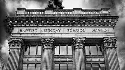 Downtown Nashville Photograph - Baptist Sunday School Board by Stephen Stookey