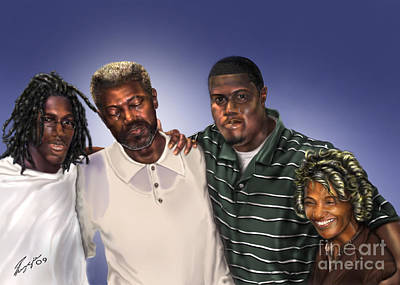 African American Family Painting - Baptized In His Glory by Reggie Duffie