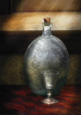 Bar - The Flask And The Glass Print by Mike Savad