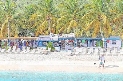 Photograph - Bar And Grill At The Beach by Kristina Deane