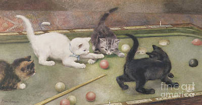 Black Top Painting - Bar Billiards by Rosa Jameson