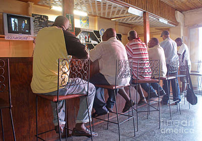 Photograph - Bar Buddies In St.georges by David Birchall