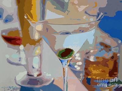 Bar Drinks Art Print by David Lloyd Glover