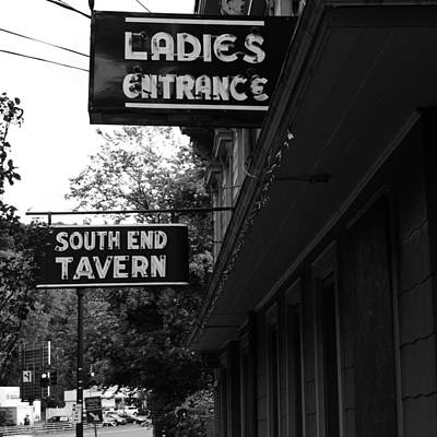 Photograph - Bar Entrance Sign by Colleen VT