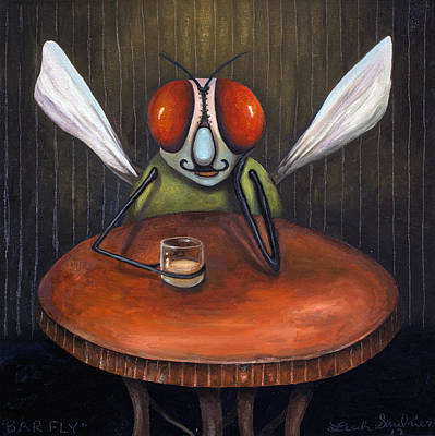 Bar Fly Original by Leah Saulnier The Painting Maniac