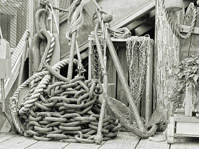 Bar Harbor Anchors Away Art Print