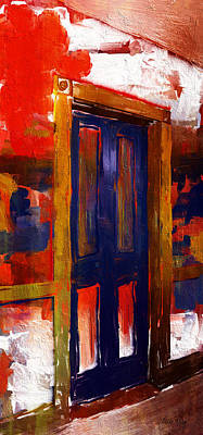 Linda King Painting - Bar Harbor Door 3921 by Linda King