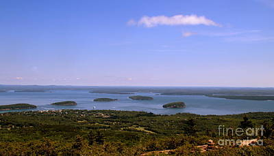Photograph - Bar Harbor From Cadillac Mountain by Lennie Malvone
