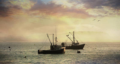 Bar Harbor Lobster Boats Art Print