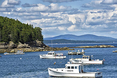 Mt. Desert Island Photograph - Bar Harbor Lobster Boats - Frenchman Bay by Brendan Reals
