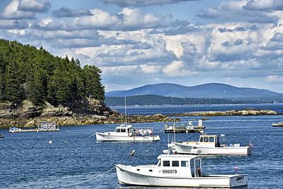 Bar Harbor Lobster Boats - Frenchman Bay Art Print