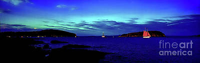 Photograph - Bar Harbor, Maine Sunset Cruse  by Tom Jelen