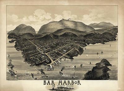 1878 Painting - Bar Harbor, Mt. Desert Island, Maine by Geo Walker