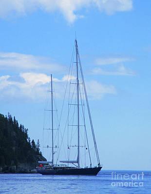 Photograph - Bar Harbor Sailboat by Randall Weidner