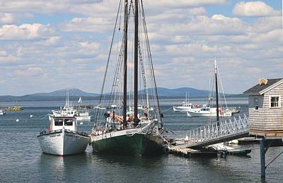 Photograph - Bar Harbor Waterfront And Boats by Living Color Photography Lorraine Lynch