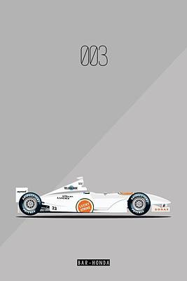 Painting - Bar Honda 003 F1 Poster by Beautify My Walls