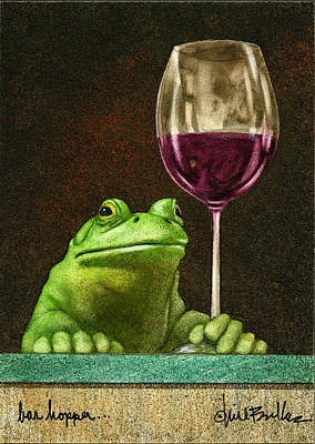 Frogs Painting - Bar Hopper... by Will Bullas