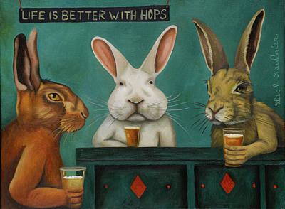 Painting - Bar Hopping by Leah Saulnier The Painting Maniac