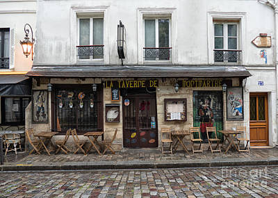 Photograph - Bar In Monmartre Paris by Lynn Bolt