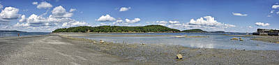 Habor Photograph - Bar Island And Land Bridge Panorama - Bar Harbor Maine by Brendan Reals
