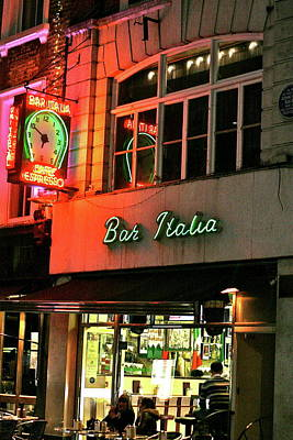 Photograph - Bar Italia Soho  by Steve Swindells