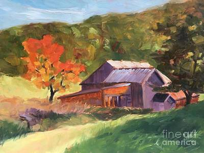 Painting - Barn Near Plymouth Notch by Lynne Schulte