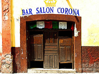 Bar Salon Corona Art Print by Mexicolors Art Photography