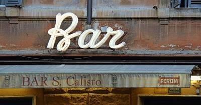 Photograph - Bar San Calisto by JAMART Photography