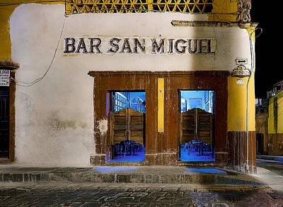 Bar San Miguel Photograph - Bar San Miguel by Whitman White