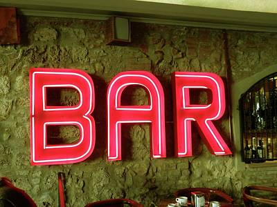 Photograph - Bar Sign by Dorothy Berry-Lound