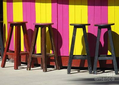 Photograph - Bar Stools by Randall Weidner