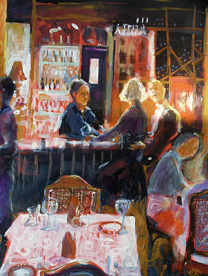 Painting - Bar Talk by Gertrude Palmer