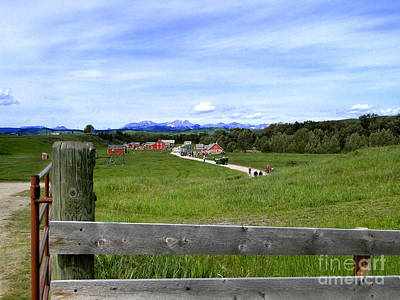 Photograph - Bar U Ranch In Magnificent Alberta by Al Bourassa