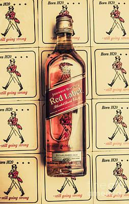 Bar Wall Art. Old Johnnie Walker Red Label Art Print by Jorgo Photography - Wall Art Gallery