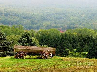 Farm Scene Photograph - Baraboo Hillside by Marilyn Smith