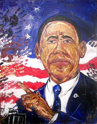 44th Painting - Barack - I Got Yo Back - No Frontin by Melvin  Robinson