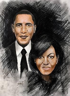 Barack And Michelle Art Print