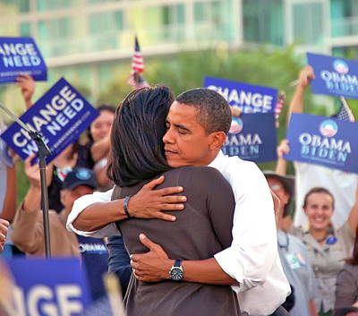 Michelle Obama Photograph - Barack And Michelle by Richard Pross