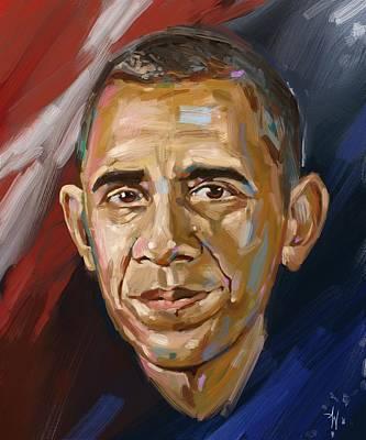 Painting - Barack by Arie Van der Wijst
