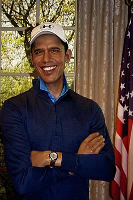 Photograph - Barack Hussein Obama II by Miroslava Jurcik